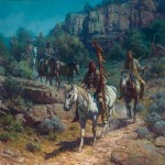Martin Grelle, Comanche Moon, oil, 40 x 40.