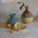 James Galindo, Clementine, oil still-life painting