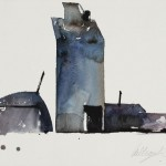 Gamble Ranch Granary #22, watercolor, 7 x 10.