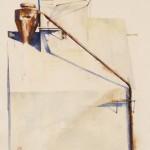 Gamble Ranch Granary # 35, watercolor, 23 x 18.