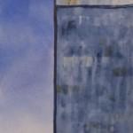 Gamble Ranch Granary # 36, watercolor, 40 x 14.