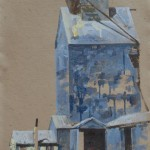 Gamble Ranch Granary, #39, watercolor, 29 x 22.