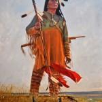 John Gawne, Distant Thunder O'er the Prairie, oil, 40 x 32.