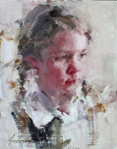 Carolyn Anderson | Girl With Braids, oil, 10 x 8.