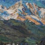 Uli Gleiter, Caucasus Sunset, oil, 20 x 28.
