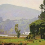 Glenn Dean, Along the Bay, oil, 24 x 30, Maxwell Alexander Gallery.