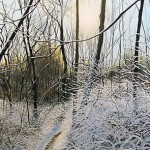 David Bottini, Glistening Mud & Snow, acrylic, 36 x 18.