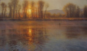 Brent Cotton, Glory, oil, 30 x 60.