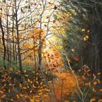 David Bottini, Glowing November Dusk, acrylic, 30 x 24.