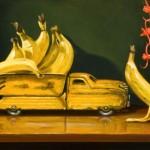 Going Bananas, oil, 12 x 24.