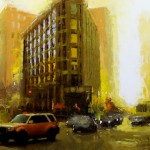 David Cheifetz, Gold at Dusk, oil painting