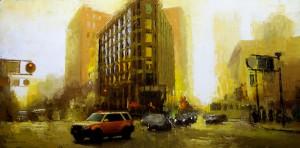 David Cheifetz, Gold at Dusk, oil painting