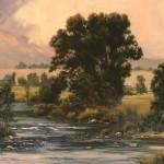 Linda Glover Gooch, The Royal Cottonwood, oil, 34 x 34.