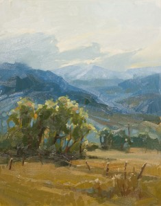 Teri Gortmaker, Cherry Vale Sunset, oil, 14 x 11.