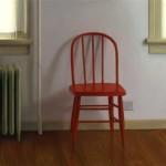 Brett Scheifflee, Grandpa's Chair, oil, 6 x 6.