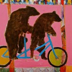 Lance Green, Bears on a Bike, acrylic, 36 x 48.