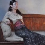 Derek Harrison, Gypsy, oil, 28 x 24.