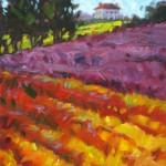 Maggie Renner Hellmann, Heather House, oil, 9 x 12.