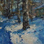 Ulrich Gleiter, A Morning in Russia, oil, 30 x 40.