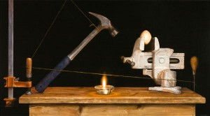 Breakfast Special: Hamr and Eggs, oil, 24 x 36.