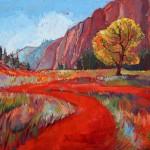 Erin Hanson, Hop Valley, oil, 30 x 40.