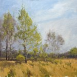 Marc Hanson, Spring Poplar, oil, 18 x 24.