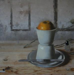 Matthew Saba, Harper, oil, 13 x 12.