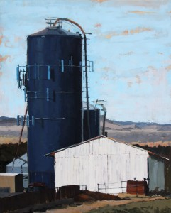 Stephanie Hartshorn, Rural Texture, oil, 30 x 24.