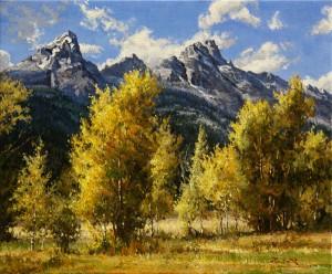 Mark Haworth, Tetons, oil, 20 x 24.