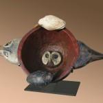 Hib Sabin, Bowl of Divination, polychromed juniper, 12 x 18 x 10.