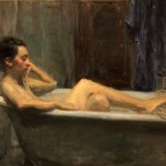 Ron Hicks, Soaking, oil, 18 x 24.