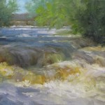 Susan Ploughe, High Water, oil, 8 x 16.
