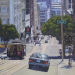 Scott Prior, High Noon at Bush and Powell, oil, 30 x 24.