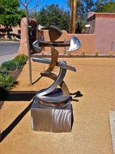 Casey Horn, Tranquility Fountain, bronze/stainless steel, 64 x 32 x 24.