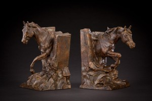 Curt Mattson, Horse Stories, bronze, 10 x 7 x 6.