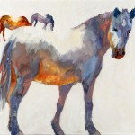 Horses of a Different Color, oil, 30 x 36.