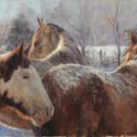 Winter Lesson, oil, 27 x 40.