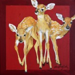 Donna Howell-Sickles, Mama's Baby Girls, acrylic, 16 x 16.