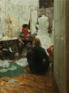 Hsin-Yao Tseng, Before Wedding, oil, 24 x 18.