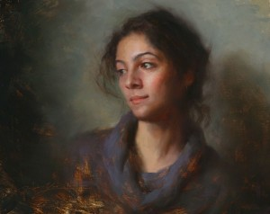 Hsin-Yao Tseng | Girl From Iran, oil, 16 x 20.