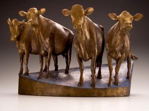 Anne Huibregtse, Event Horizon, bronze, 10 x 16 x 6.