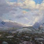 Peace of Himalayan, oil, 24 x 36.