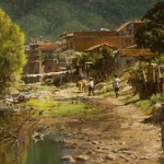 Clark Hulings, Puerto Vallarta, oil, 23 x 44. Estimate: $100,000-$200,000.