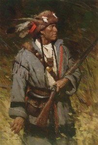 Z.S. Liang, Hunting the Timber Edge, oil, 36 x 24.