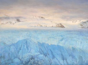 Ice Field, oil, 18 x 24.