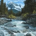 Kasey Nixon, Ice Water, oil, 16 x 24.
