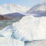 Iceberg, oil, 8 x 24.
