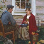 Mike Malm, In Good Company, oil, 30 x 24.