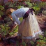 In the Garden, oil, 11 x 14.