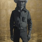 Logan Maxwell Hagege, Indian Cowboy, oil, 40 x 32.